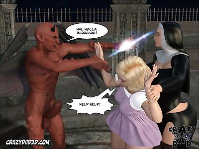 Crazy Dad 3D Evil Nun 2..