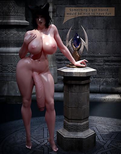 3DX851 Threesome Demon Fuck..