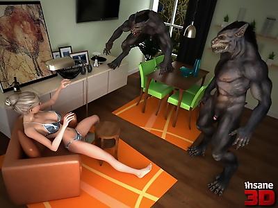 Insane3D- Werewolf Sex Attack