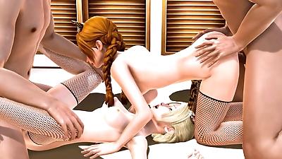 إلسا و آنا القط البنات -..