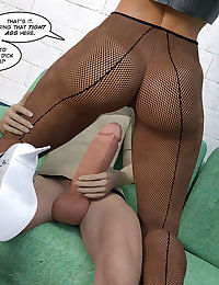 Dyed blonde in pantyhose do it hot - part 15