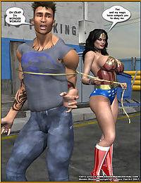 Bondage WW vs ArmDealers- Wonder Woman