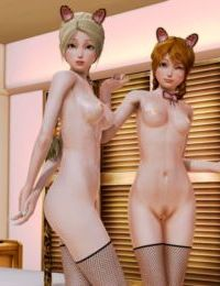 Elsa and Anna Cat Girls - part 4