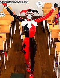 New Arkham For Superheroines 3 - Back to School - part 3