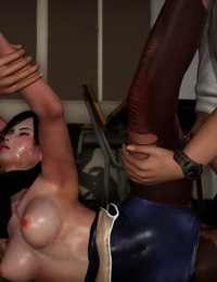 Pixiv DOA Kokoro:Beautiful Schoolgirl Gets Gangbanged Part2 - part 3