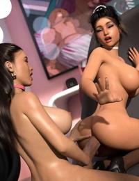 3DSimon My Boss DickGirl 2: Kathy & Diane - part 4