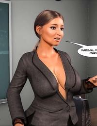 Crazy Dad 3D Spank꧇ Teacher Marilia English
