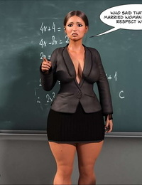 Crazy Dad 3D Spank꧇ Teacher Marilia English - part 2